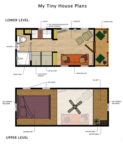 tiny house with tiny houses plans with loft