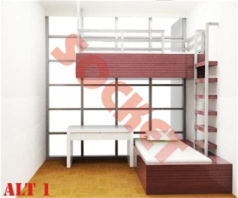 Ranjang Stenlis perancangan interior desain kamar anak