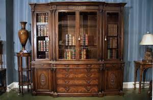 antique mahogany china cabinet and bookcase