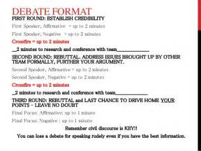 Debate Essay Format by Debate Notes And Format W Rubric