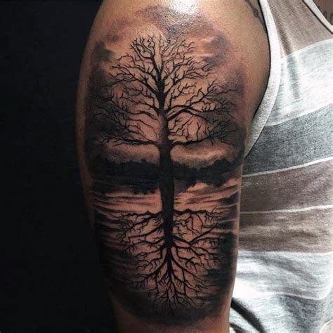 life tattoos for men 100 tree of designs for manly ink ideas