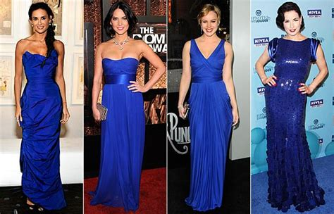 Oscar Trends To Inky Blue by Carpet Trend Cobalt Blue Dresses