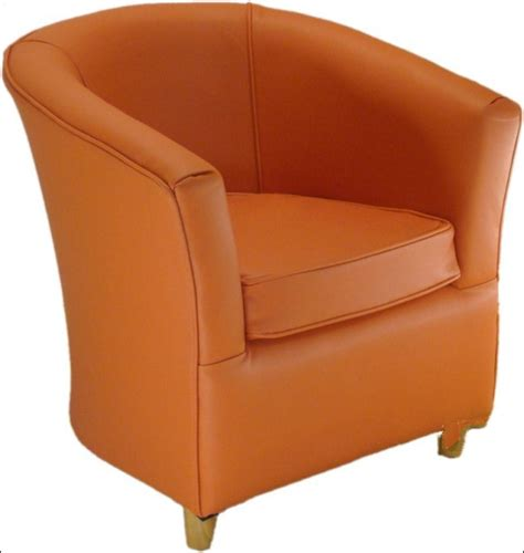 bucket couch leather bucket tub chair tangerine orange