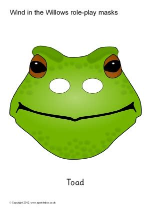 printable grasshopper mask wind in the willows primary teaching resources