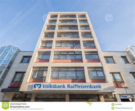 bank volksbank volksbank raiffeisenbank rosenheim editorial image