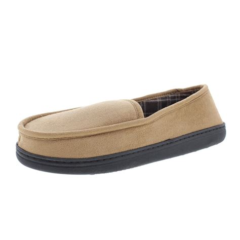 fleece lined moccasin slippers perry ellis portfolio 0133 mens microsuede fleece lined