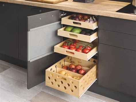 cuisine en u ouverte 1225 comment bien ranger ses fruits et l 233 gumes cuisinella