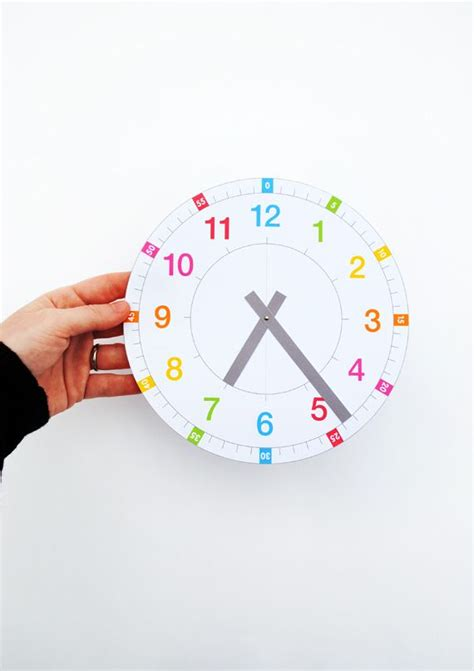 printable learning clock tell the time clock free printable to tell for