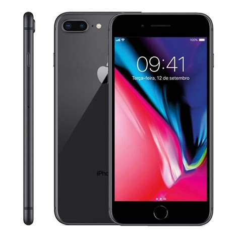iphone 8 plus apple cinza espacial 64 gb c 226 mera 12 mp em 12x taqi