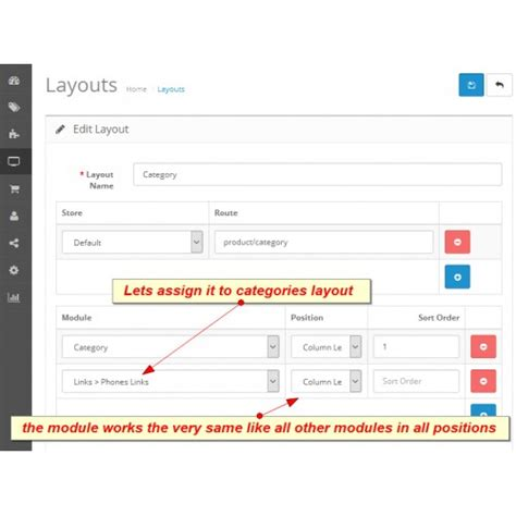 homepage layout manager virtue opencart ultimate links module manager block opencart 2 x