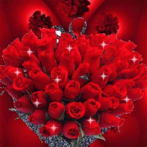 imagenes de corazones en movimiento imagen de amor de corazones y rosas con brillo y