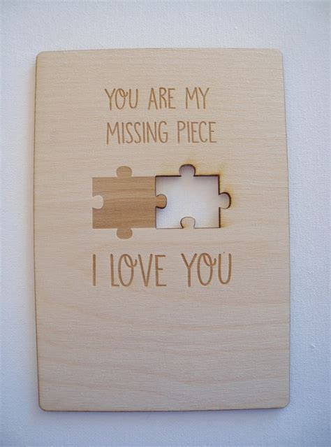 popular items for the missing piece on etsy personalized valentine s day card birthday card christmas