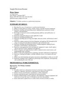 Sample Resume Electrician resume professional apprentice electrician resume sample x electrician