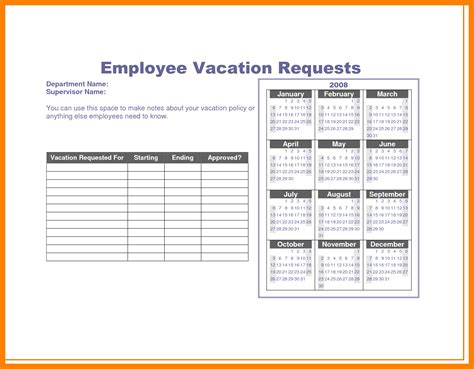 vacation leave request form template brilliant ideas of 8 vacation request form template on