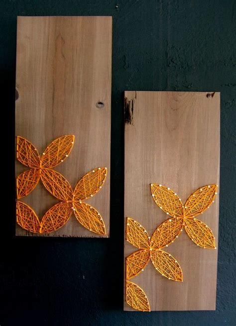 Modern String - modern string wooden tablet set of 2 yellow