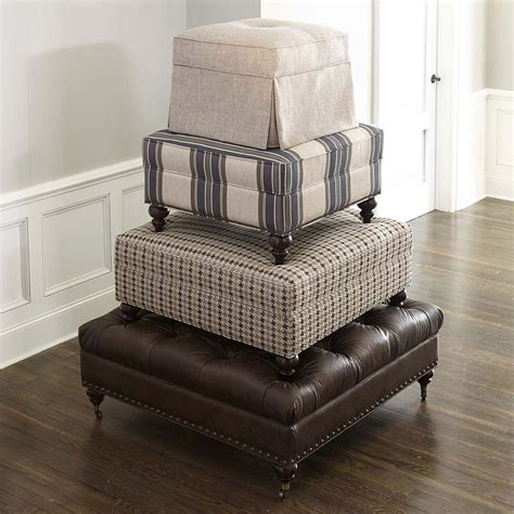 square ottoman living room custom square ottoman bassett furniture