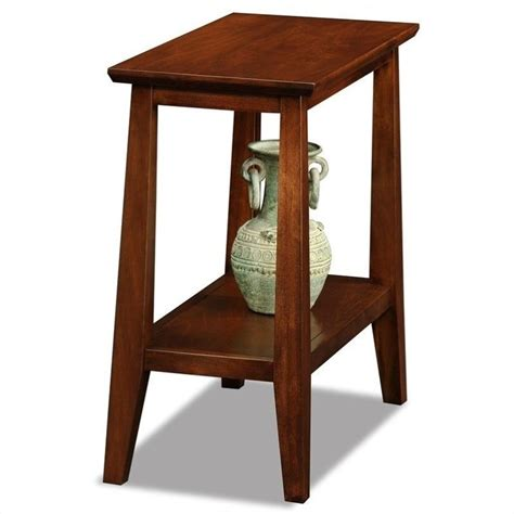 Solid Wood End Tables by Leick Delton Narrow Chairside Solid Wood End Table In 10405