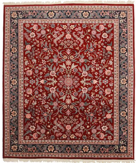 8 x 10 vintage wool design rug 6636 exclusive