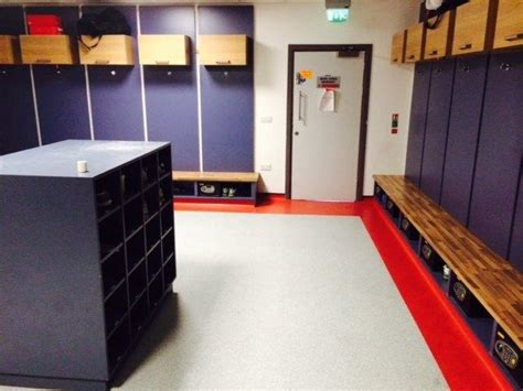 changing room football cardiff city football club changing room vinyl sheets floor furnishings limited