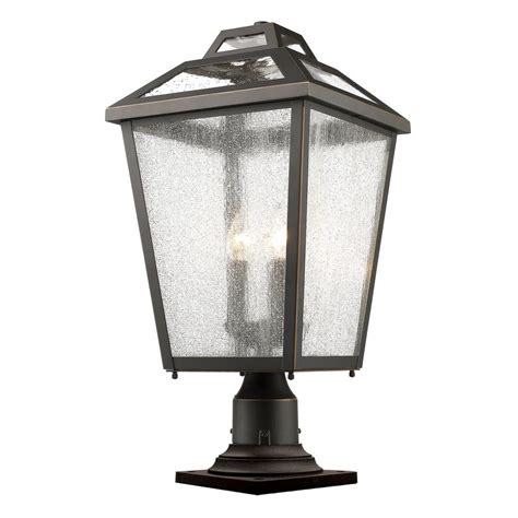 Pier Mount Outdoor Lights Filament Design Wilkins 3 Light Rubbed Bronze Outdoor Pier Mount Cli Jb048193 The Home Depot