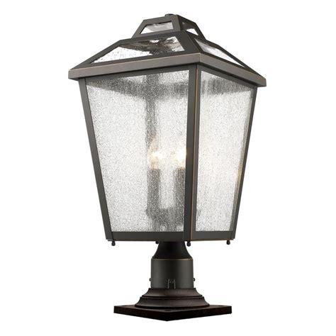 Filament Design Wilkins 3 Light Oil Rubbed Bronze Outdoor Pier Mount Outdoor Lights