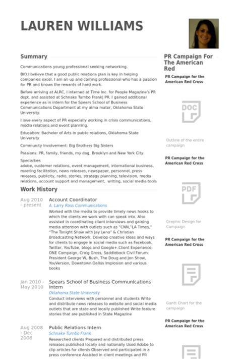 account coordinator resume sles visualcv resume