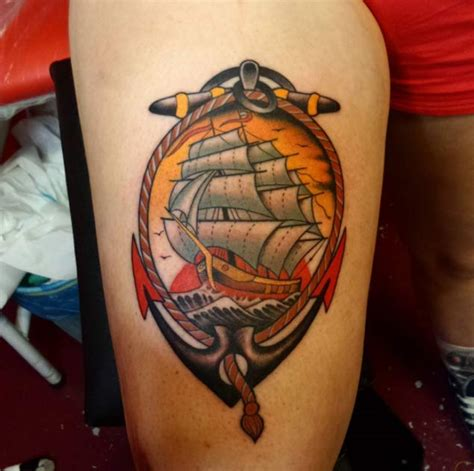glow in the dark tattoo vancouver 50 amazing ship tattoos you won t believe are real