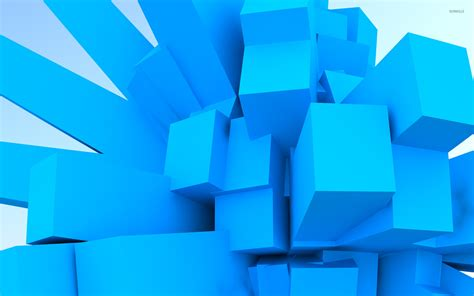 wallpaper blue cube blue cubes wallpaper 3d wallpapers 16708