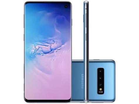 Samsung Galaxy S10 4g by Smartphone Samsung Galaxy S10 128gb Azul 4g 8gb Ram Tela 6 1 C 226 M Tripla Selfie 10mp