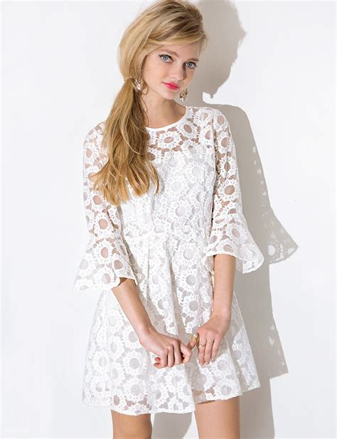 Bell Sleeve Lace Dress adorable bell sleeve lace dress comeback in fashion