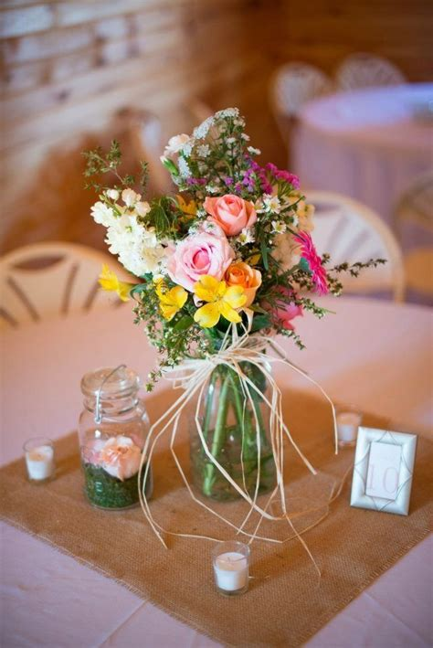 mason jar wedding centerpieces mason jars pinterest