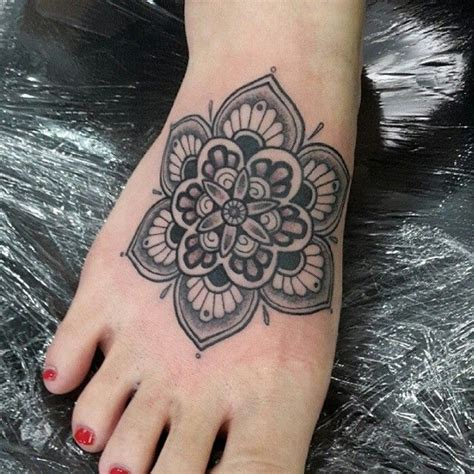mandala ankle tattoo mandala on the foot by lucilouzz