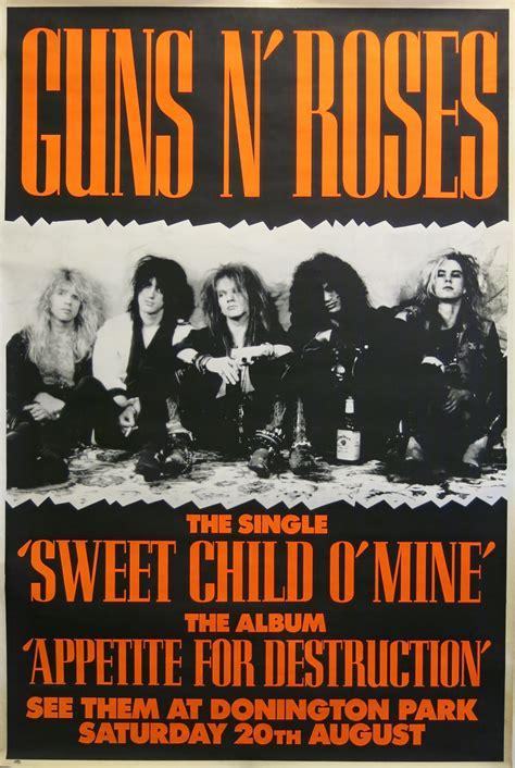 Guns N? Roses Huge 5? Donington Park 1988 Concert Poster