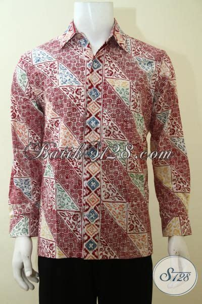 desain baju batik lengan panjang remaja busana kemeja batik parang desain modern nan berkelas
