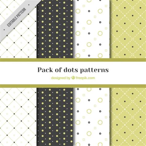 dot pattern vector pack great pack of four patterns with dots vector free download