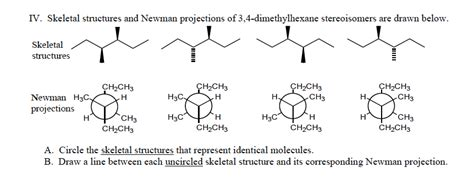 Drawing Newman Projections by Solved Skeletal Structures And Newman Projections Of 3 4