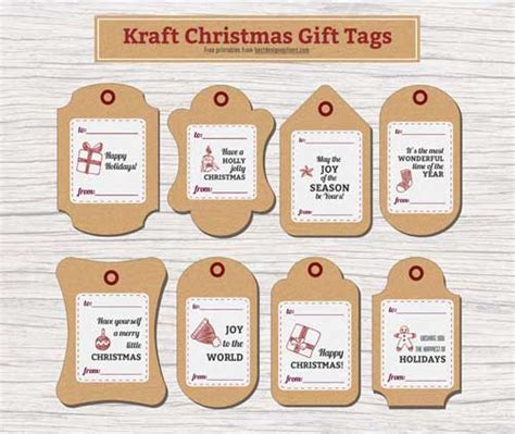 printable tags brown christmas gift tags in brown paper texture free printables