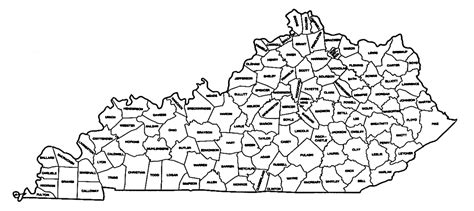map of kentucky counties map of kentucky counties map2
