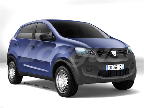 small renault dacia s entry level car based on datsun redi go render