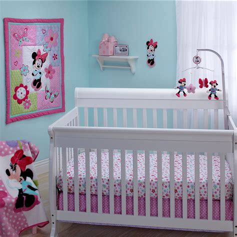 minnie mouse crib bedding nursery set minnie mouse simply adorable 4 crib bedding set disney baby