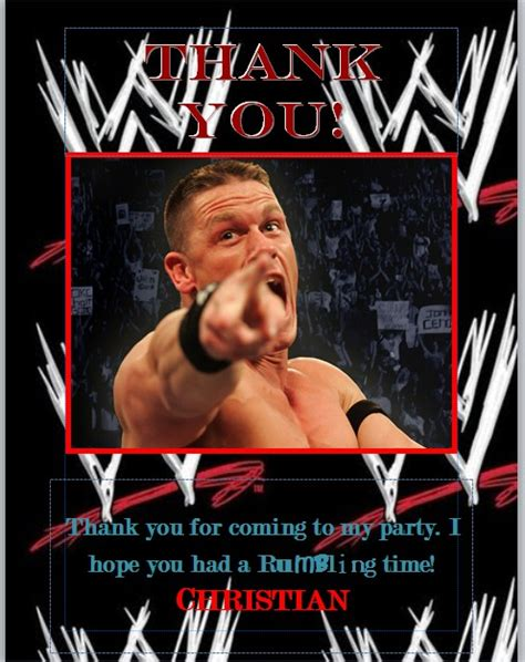 printable john cena birthday cards wwe birthday party beauty the boys