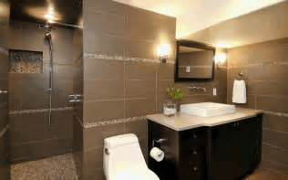 Ideas For Bathroom Tiles On Walls by Ideas For Tile Bathroom Design Black Brown Tile Bathroom