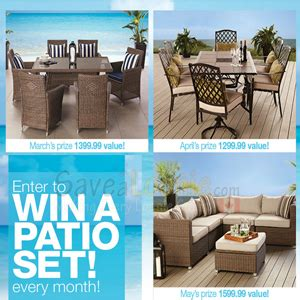home outfitters win a patio set