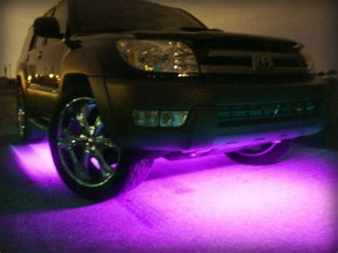 neon purple jeep purple lights on the bottom