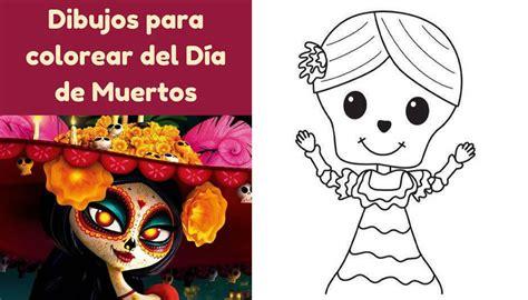 Imagenes Infantiles Para Colorear Del Dia De Muertos | cuaderno para colorear del d 237 a de muertos especial para ni 241 os