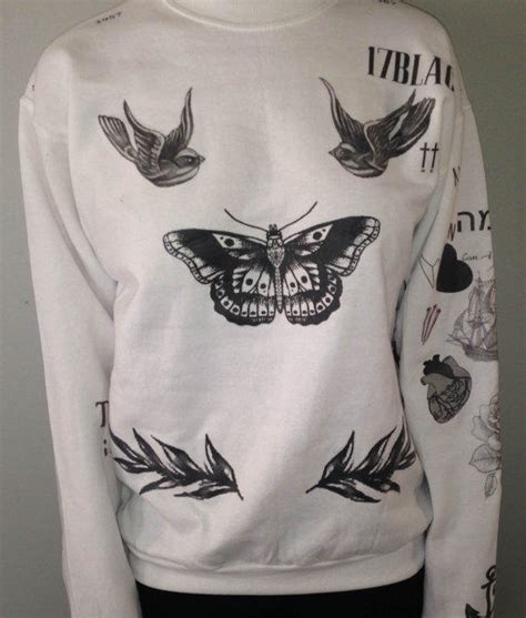 t shirt tattoo harry styles harry styles tattoo sweater from boybandtattoos on etsy epic