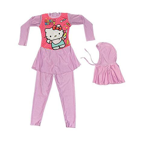 Baby Set Ungu jual baby motif hello baju renang anak muslim