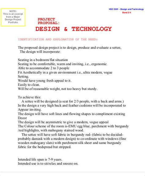 design proposal project 10 design proposals free sle exle format download