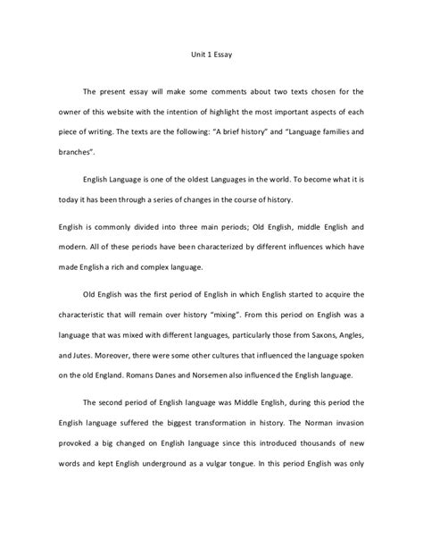 essay format history a brief history of english essay