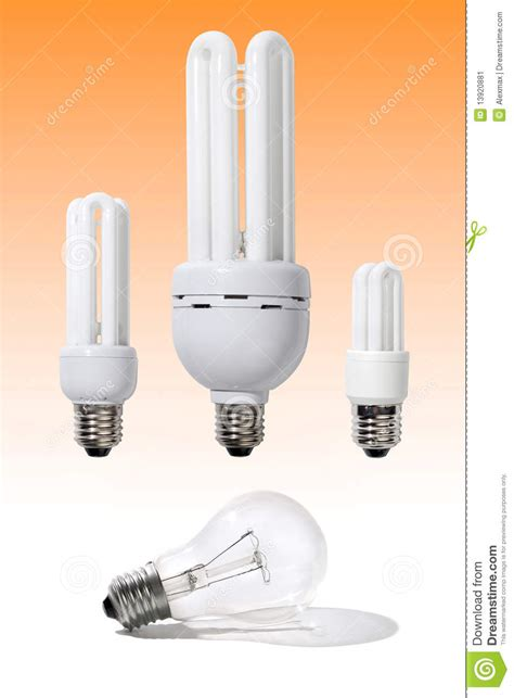 regular incandescent light bulbs energy efficient light bulbs stock image image 13920881
